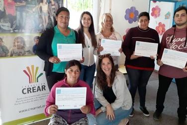 Entrega de certificados en Villa Alba